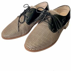 Remonte perforated leather patent derby shoes EU38